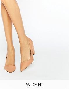 Tуфли для широкой стопы на каблуке ASOS SAPPHIRE - Бежевый