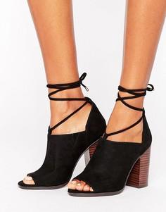 Туфли на каблуках с завязками на ноге ASOS ORSON - Черный