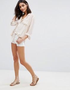 Джинсовые шорты Vero Moda - Белый