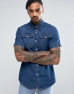 Джинсовая рубашка с короткими рукавами G-Star Landoh - Темно-синий
