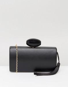 Черный классический клатч с кисточкой Liquorish - Черный