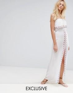 Пляжное платье макси с вышивкой Akasa - Мульти