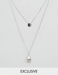 2 ожерелья с подвесками DesignB London - Серебряный