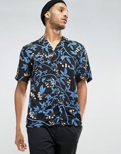 Рубашка классического кроя с короткими рукавами и принтом Kiomi - Черный