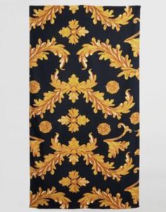 Пляжное полотенце с принтом в стиле барокко ASOS - Черный