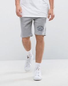 Трикотажные шорты с принтом Jack & Jones - Серый