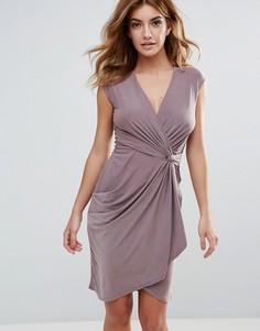 Платье с запахом Club L - Бежевый