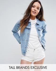 Джинсовая куртка с оборками Glamorous Tall - Синий