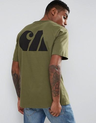Спортивная футболка в стиле милитари Carhartt WIP - Зеленый
