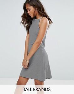 Свободное платье с принтом Vero Moda Tall - Темно-синий