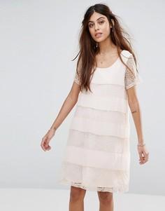 Цельнокройное платье с кружевной отделкой Vila - Мульти