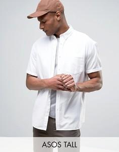Белая свободная оксфордская рубашка ASOS TALL - Белый