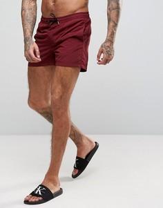 Бордовые шорты для плавания Jack & Jones - Красный