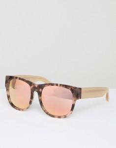 Квадратные черепаховые солнцезащитные очки с персиковыми стеклами Matthew Williamson - Коричневый