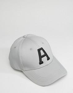 Бейсболка с буквой A 7X - Серый