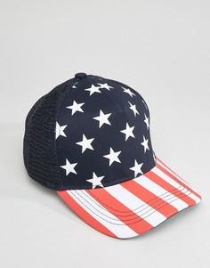 Бейсболка с закругленным козырьком 7X USA - Синий