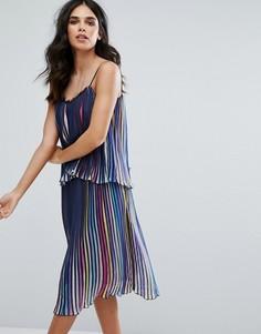 Плиссированное разноцветное платье Little White Lies Luce - Мульти