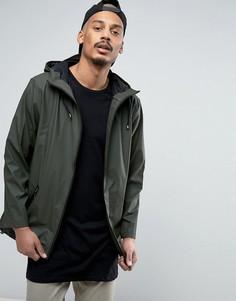 Зеленая водонепроницаемая куртка с капюшоном Rains - Зеленый