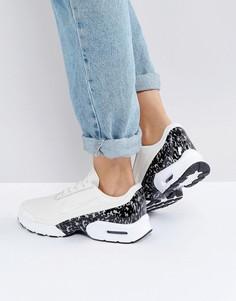 Бежевые кожаные кроссовки Nike Air Max Jewell Lx - Белый