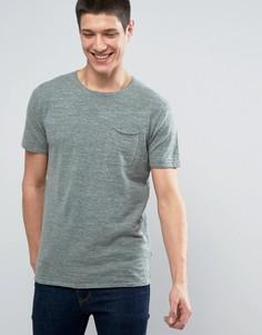 Трикотажная футболка с короткими рукавами Selected Homme - Зеленый