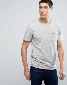 Трикотажная футболка с короткими рукавами Selected Homme - Серый