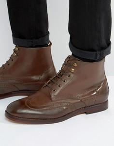 Кожаные броги на шнуровке Hudson London Penley - Коричневый