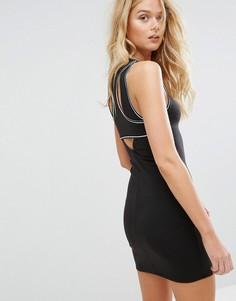 Облегающее платье со спиной-борцовкой Hollister - Черный