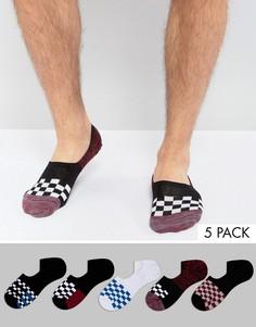 Набор из 5 пар невидимых носков с отделкой ASOS - Мульти