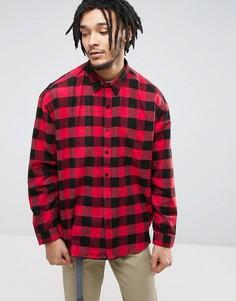 Фланелевая расклешенная рубашка Zeffer - Красный