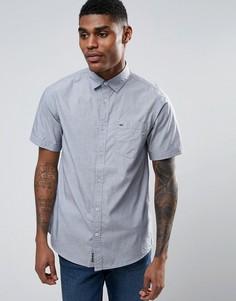 Хлопковая рубашка с короткими рукавами Tokyo Laundry - Темно-синий