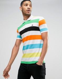 Футболка-поло в полоску United Colors of Benetton - Белый