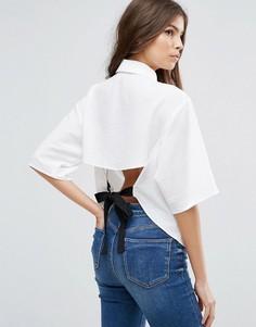 Блузка с поясом ASOS - Белый