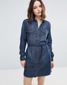 Джинсовое платье-рубашка Only Henna - Темно-синий