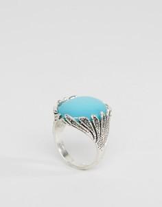 Броское кольцо с бирюзой Glamorous - Серебряный