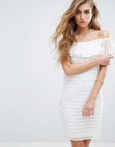 Платье с открытыми плечами Supertrash Damira - Белый