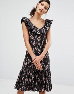 Платье с цветочным принтом Sonia By Sonia Rykiel - Черный