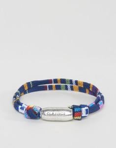 Синий браслет с ацтекским принтом Classics 77 - Синий