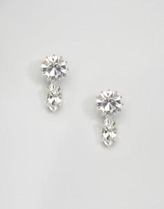 Серьги с кристаллами Swarovski Krystal London - Серебряный