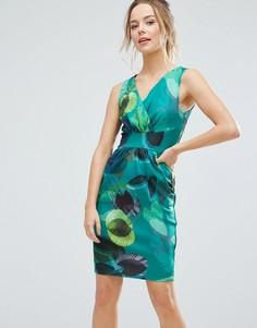 Платье-тюльпан с принтом Closet London - Зеленый
