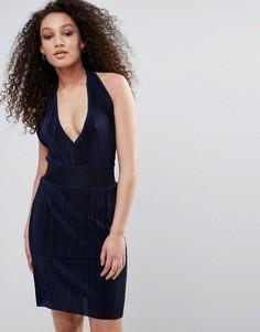 Облегающее платье с халтером Wal G - Темно-синий