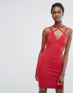 Платье на двойных тонких бретельках Wal G - Красный