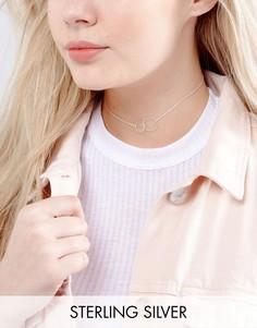 Серебряное ожерелье-чокер с диском Kingsley Ryan - Серебряный