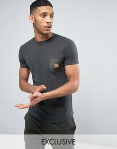 Длинная обтягивающая футболка с карманом Ellesse - Зеленый