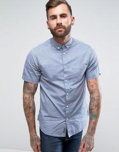 Оксфордская саржевая рубашка с короткими рукавами Tokyo Laundry - Темно-синий
