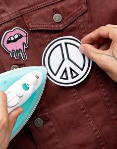 Набор из 2 термонашивок DesignB Kiss & Peace - Мульти