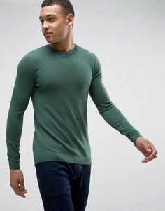 Темно-зеленый обтягивающий джемпер ASOS - Зеленый