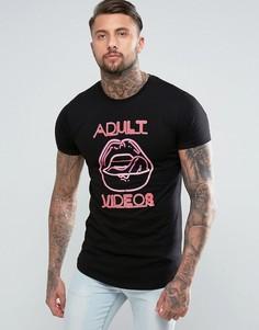 Черная футболка с неоновым принтом Good For Nothing - Черный