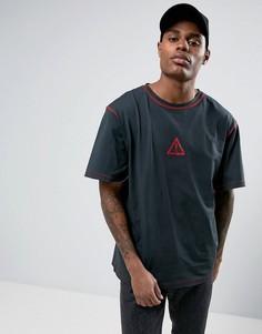 Черная oversize-футболка Granted - Черный