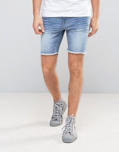 Джинсовые шорты с необработанными краями Casual Friday - Синий
