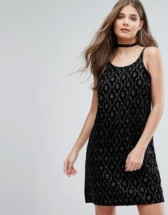 Платье с пайетками Motel - Черный